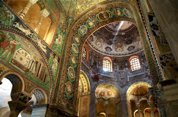 Mosaics of the Basilica di San Vitale in Ravenna
